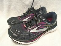 Brooks Glycerin 15 Women's Running Athletic Shoes Black Silver Pink Sz 9.5