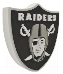 NFL LAS VEGAS RAIDERS 3D LOGO MAN CAVE WALL FOAM SIGN