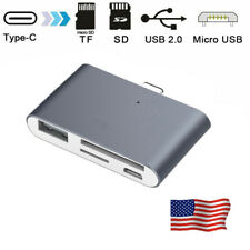 4 in 1 USB-C Type C 3.1 to USB Micro SD / TF Memory Card Reader OTG HUB Adapter