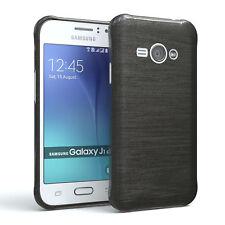 Schutz Hülle für Samsung Galaxy J1 Ace Brushed Cover Handy Case Anthrazit