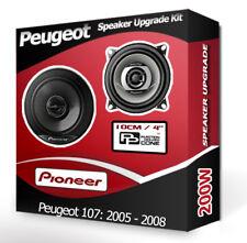 """Peugeot 107 Front Dash speakers Pioneer 4"""" 10cm car speaker kit 200W"""