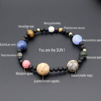 Milky Way Natural Stone Crystal Beads Eight Planets Galaxy Solar System Bracelet