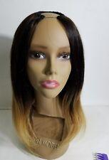 Wig Handmade U PART 100% Human Remy Hair 12'' 14'' Black/Blonde Ombre