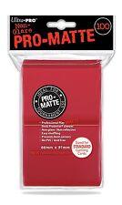 100 Ultra Pro Deck Protector Sleeves Pro-matte Red - Standard Mat