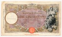 ITALY banknote 500 Lire 23.3.1942 VF Very Fine condition