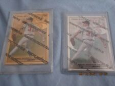 2 Leaf Greg Maddux Steel Cards - Silver and Gold