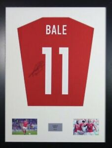 Signed Gareth Bale Wales Shirt In Large Professional Frame