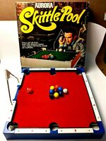 1970s Aurora Skittle Pool Family Billiards Game Set Parts Incomplete Don Adams