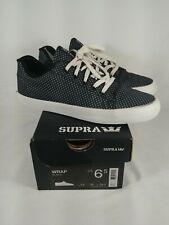 Supra Skateboard Shoes Low Wrap Black White Size 6.5  S05010