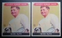 1933 Goudey Sport Kings 2 card Babe Ruth #2 **Reprint** lot.N.Y....