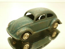 LION CAR VW VOLKSWAGEN BEETLE OVAL WINDOW - BLUE 1:42 VERY RARE - GOOD CONDITION