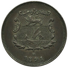 British North Borneo KM#1 1891H 1/2 Cent Coin