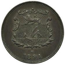 British North Borneo KM#1 1891H 1/2 Cent Coin