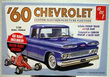 1960 Chevrolet Custom Fleetside Pickup & Go Kart 1:25 AMT 1063 wieder neu 2019