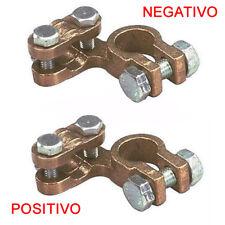 piccoli Morsetti Batteria 1000A (positivo+negativo) coppia auto trattori 12/13mm