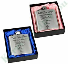 Godfather Godmother Personalised Hip Flask 3oz Gift Present Christening Gifts