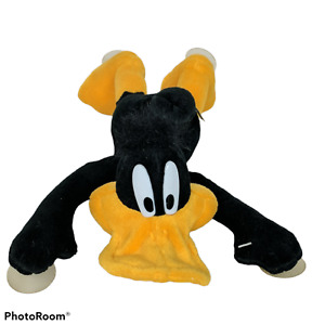 """Vtg Looney Tunes Daffy Duck ACE Suction Cup Plush Stuffed Animal 1998 11"""""""