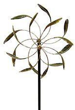 Kinetic Wind Spinner Modern Art Sculpture Dual Sun Metal Large Outdoor Pinwheel