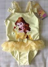 Baby Girls Disney Princess Belle Frill/Tutu Swimming Costume/Swimsuit ~ 18-24m
