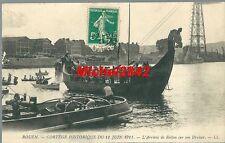 CPA Rouen Cortège historique du 11 juin 1911 L'arrivée de Rollon sur son Drakar