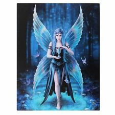 "Small Rectangular Canvas Plaque Anne Stokes ""Enchantment"""