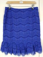 Darling Women's Skirt Cobalt Blue Size Medium New with Tags Lace Isabella Style