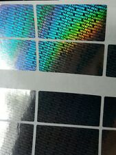 80x SECURITY SEAL, TAMPER EVIDENT, Warranty  void stickers, 40mmX20mm hologram