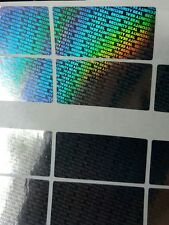 96x SECURITY SEAL, TAMPER EVIDENT, Warranty  void stickers, 40mmX20mm hologram