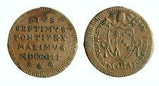 pcc1820_3) Pio VII (1800-1823) Roma Mezzo Baiocco 1802 anno II