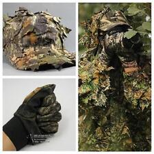 3D CS Leaf Sniper Ghillie Suit Jungle Cap Camouflage Glove Hunting Clothes Pants