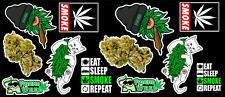 12 Weed Marijuana Cannabis Vinyl Stickers