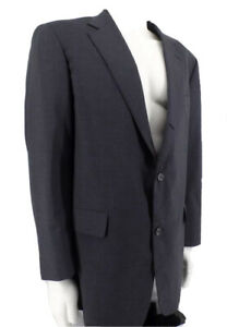Brooks Brothers BROOKSEASE Suit Jacket Mens Size 40L 100% Wool Charcoal Gray