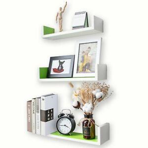 Ezigoo Set Of 3 Floating Wall Shelf Ideal Décor Accessory For Bedroom Study