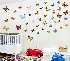 Vintage Style 3D Butterfly Wall Stickers. Also Scrapbooking, Craft, Home Decor