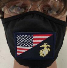 United States Marine Corps Flag Washable Face Mask One Size Fits Most Gildan