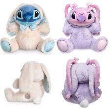 "Disney Store Lilo & Stitch Easter Plush Angel Bunny Stuffed Animal Toy 10 1/2"""
