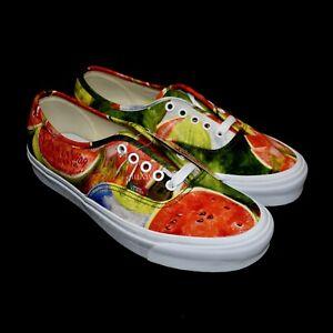NWT Vans Frida Kahlo Men's Watermelon Print OG Authentic LX Low Top Sneakers DS