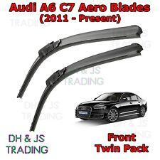 "(11-19) Audi A6 C7 Aero Wiper Blades Windscreen Window 26"" 21"" Flat Front Avant"