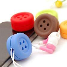 Button Cable Cord Wire Organizer Bobbin Winder Smart Wrap Headphone Earphone