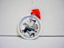 Vintage Norman Rockwell Ceramic Christmas Tree Hanging Ornament Jcpenney 1997