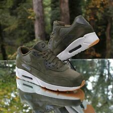 Nike Air Max 90 Ultra 2.0 Leather Olive Canvas Men's Size 13 Bone 924447-301