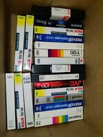 Lot Of 20 Pre-Recorded VHS Video Cassettes VCR Tapes Sold As Used Blanks Vintage