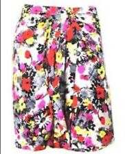 ALANNAH HILL WOMENS SKIRT PETAL POWER FLORAL PRINT SILK LINED MADE IN AU SZ 10