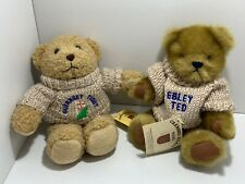 2x CHANNEL ISLAND TOYS JUMPER BEARS JOEY GUERNSEY TEDDY EBLEY TED JOINTED