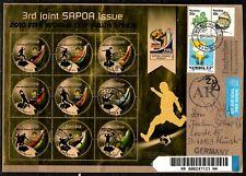 Namibia oversized Cover - 2010 SAPOA Fußball WM FIFA Kleinbogen I FDC