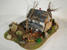 HO Abandoned House Diorama - super detailed - custom weathered - lot 2