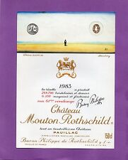 PAUILLAC 1ER GCC ETIQUETTE CHATEAU MOUTON ROTHSCHILD 1983 1.5 L §15/08§