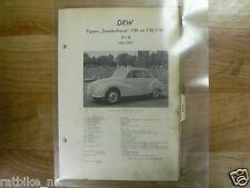 DK1A-DKW TYPEN SONDERKLASSE F91 EN F93/94 3=6 1953-1957 VINTAGE CAR OLDTIMER