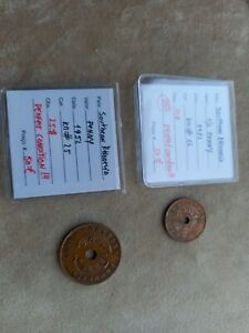 southern rhodesia 1/2 penny 1952 & penny 1952 uncirculated  perfect condition