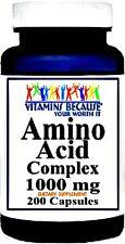 AMINO ACID 1000 COMPLEX L-ARGININE CARNITINE CYSTEINE GLUTAMINE GABA 200 CAPSULE